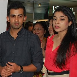 Indian cricketer and KKR captain Gautum Gambhir and wife Natasha Jain Gambhir