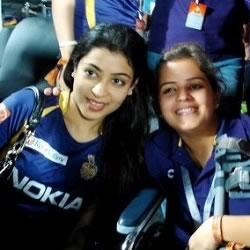 Wife of KKR Captain Gautum Gambhir, Natasha Jain Gambhir, at final of IPL 2012