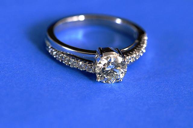 Platinum Diamond Ring Guard