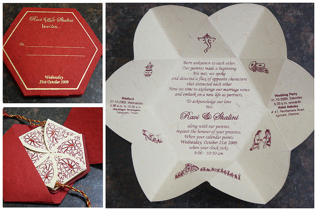 Lord Ganesha on Hindu Wedding Invitation Cards