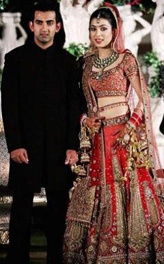 Gautum Gambhir and wife Natasha Jain (Natasha Gambhir) Wedding Images