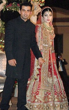 Gautum Gambhir and wife Natasha Jain (Natasha Gambhir) Wedding Pictures
