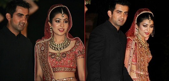 Wedding Picture of Gautum Gambhir and Wife Natasha (Jain) Gambhir