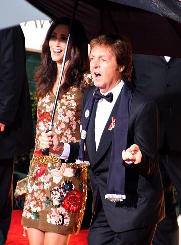 Sir Paul McCartney third marriage to American Nancy Shevell