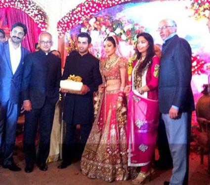 Image of Gautum Gambhir, Natasha Gambhir, Juhi Chawla and Husband Jai Mehta