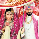Wedding of Gul Panag and Rishi Attari