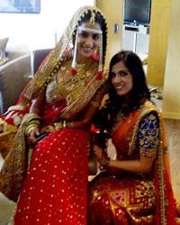 Genelia's Bridal Sari by Neeta Lulla & Nishka Lulla