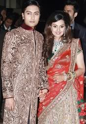 Honey Bhagnani - Dheeraj Deshmukh at their Reception