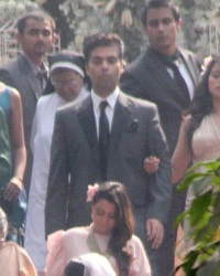 Picture of Best Man Karan Johar at  Riteish's & Genelia's