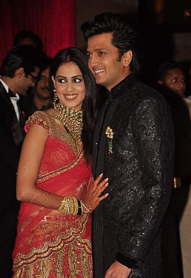 Genelia Marriage Reception Photos Riteish Deshmukh and G...