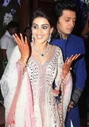Pic of Riteish Deshmukh and Genelia at their Sangeet Ceremony