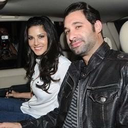Photo of Sunny Leone with Husband Daniel Weber in Mumbai, India
