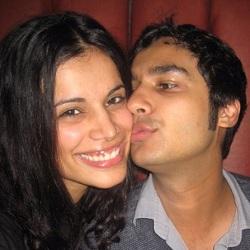 Raj Koothrappali (Kunal Nayyar) with wife Neha Kapoor.