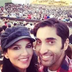 Photo of Sunny Leone with younger brother, Sundeep Vohra.