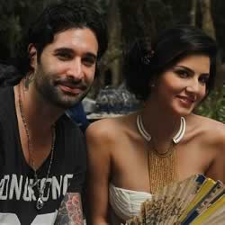 Picture of actress Sunny Leone with her husband, Daniel Weber.