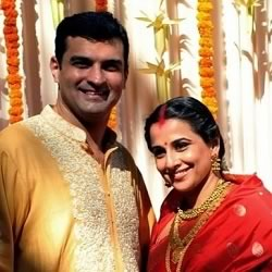 Marriage Picture of Sidharth Roy Kapoor and Vidya Balan.