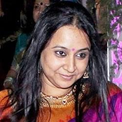 Vidya Balan's sister, Priya, at Vidya's Wedding Sangeet ceremony at her flat in Khar, Mumbai.
