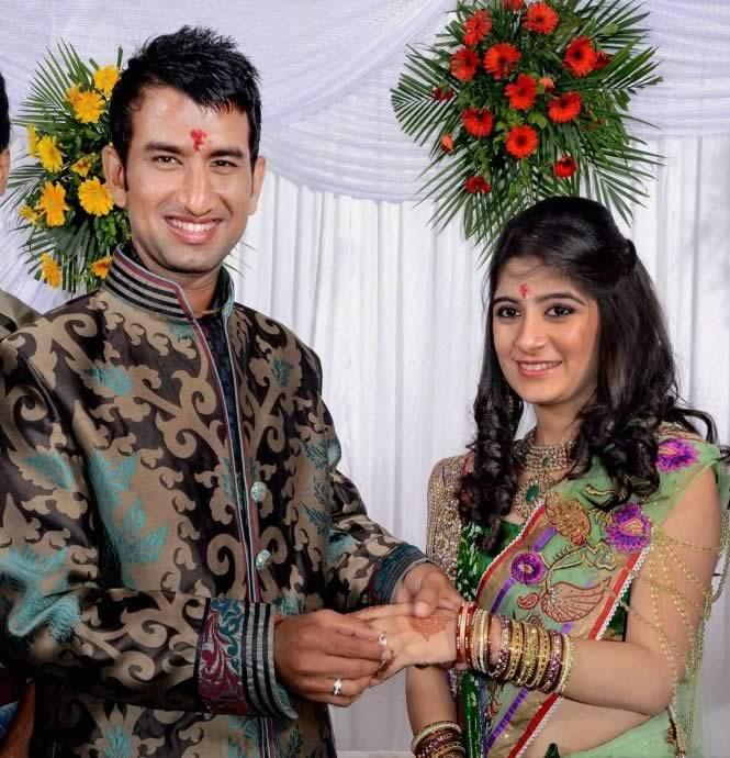 Cheteshwar Pujara Wedding With Puja