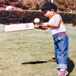 Indian batsman Cheteshwar Pujara when he was young.