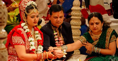 In Hindu Wedding, Kanyadaan is the ritual where the bride's parents give her to her husband.