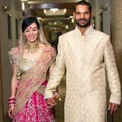 Photos And Info Of Shikhar Dhawan And Ayesha's Wedding