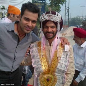 Rohit Sharma at Shikhar Dhawan's Wedding