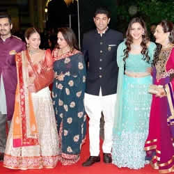 Deol and Takhtani family at Ahana Deol and Vaibhav Vora's Wedding.