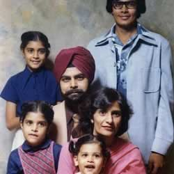 Nikki Haley with parents (Raj and Ajit Randhawa), brothers (Miti and Gogi Randhawa) and sister (Simran Singh).