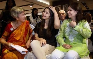 Anjali Tendulkar, her daughter, Sara and mother, Annabel Mehta