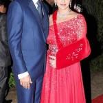 Esha Deol with husband, Bharat Takhtani, at sister Ahana's Wedding