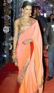 Deepika Padukone at Ahana Deol and Vaibhav Vohra's Marriage.