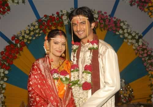 Sushant Singh Rajput and Ankita Lokhande's Wedding Picture.