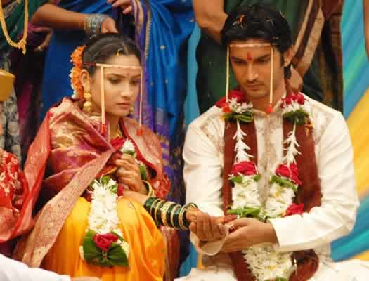 Ankita Lokhande and Sushant Singh Rajput's Marriage Photo on Pavitra Rishta.