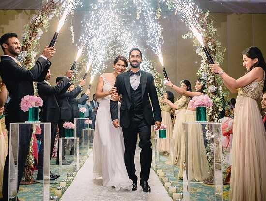 Dinesh Karthik and Dipika Pallikal's Christian Wedding Picture