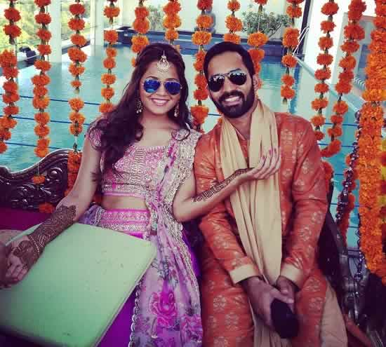 Dipika Pallikal With Husband, Dinesh Kartik, At Her Mehendi