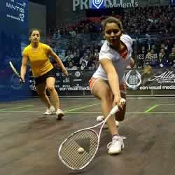 Indian Squash star, Deepika Pallikal, on the Squash Court.