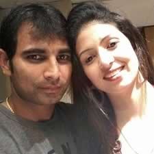 Mohammed Shami and his wife, before they were married.