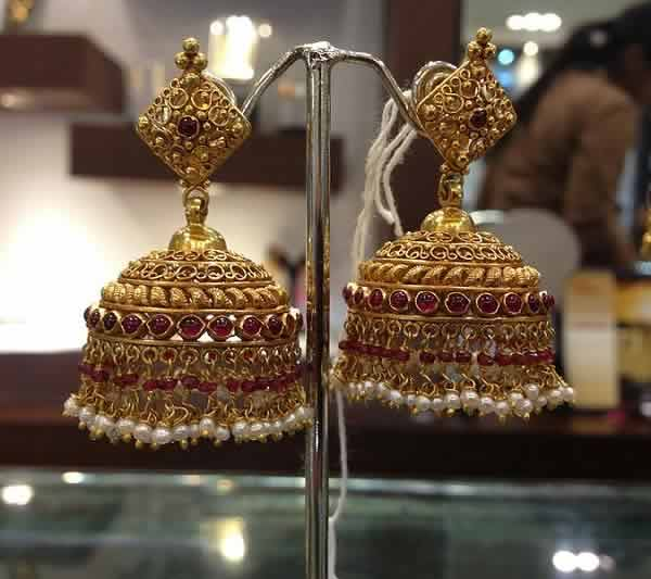 "Jhumka (""Jhimiki"" or ""Jimikki"" ) is an Indian earrings."