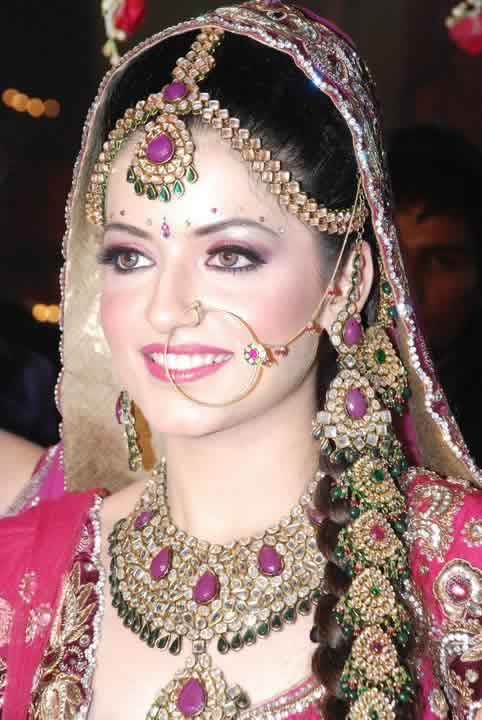 """""""Nath"""" or """"Nathni"""" is the nose rings worn by Indian Brides."""