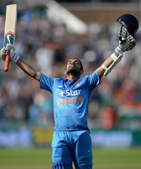 Photo of Ajinkya Rahane After Scoring A 100 For India