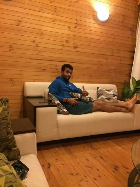 Picture of Ajinkya Rahane Relaxing At His House