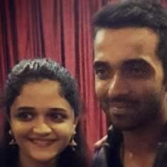 Photo of Cricketer Ajinka Rahane and his wife Radhika Rahane