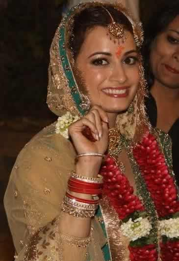 Dia Mirza Wedding To Sahil Sangha Indian Weddings