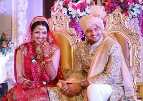 Photo of Suresh Raina with his Wife, Priyanka Chaudhary