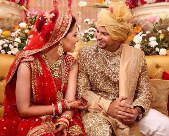 Marriage Picture of Suresh Raina and His Wife, Priyanka