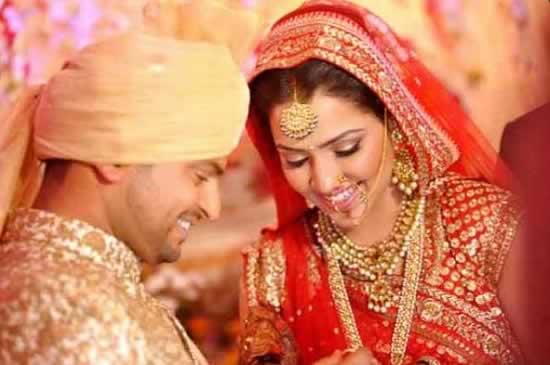 Wedding Photo of Suresh Raina And Wife Priyanka Chaudhary