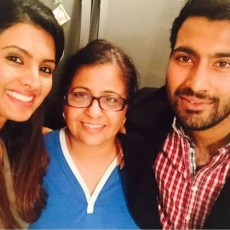 Family Picture of Geeta Basra, Her Mother and Brother