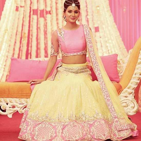 Photo of Geeta Basra at Her Wedding Mehendi Ceremony