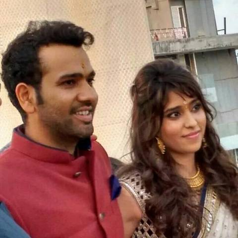 Rohit Sharma With His Wife Ritika, At Their Engagement