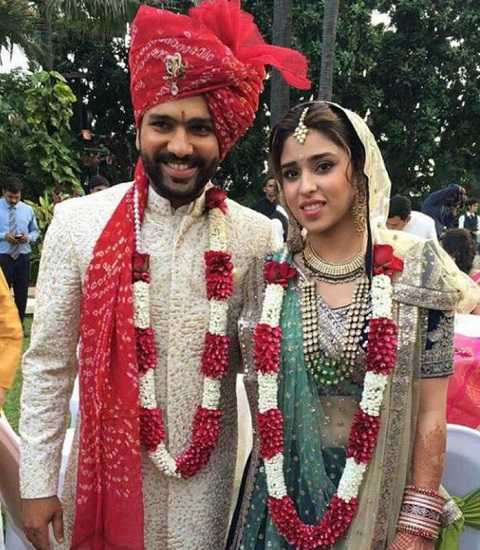 Rohit Sharma wife and Rohit Sharma Wedding Photo